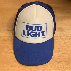 Other - Bud Light Baseball Cap Hat SnapBack Mesh Flat Brim
